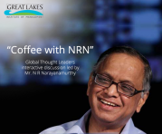 Coffee with Narayanmurthy Global thought leader series by Great Lakes